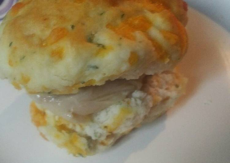 Leftover Thanksgiving Turkey and Gravy Biscuit