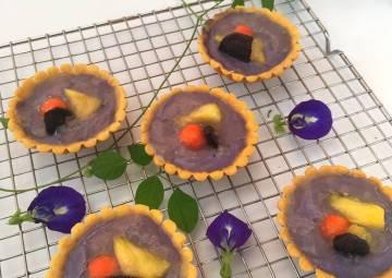 Resep Pie Buah dengan Vla Taro Paling Mudah