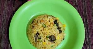 Nasi goreng kikil kambing simpel
