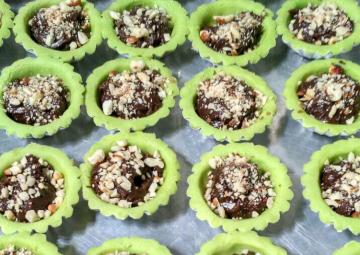 Resep Pie Brownies Pandan Favorit