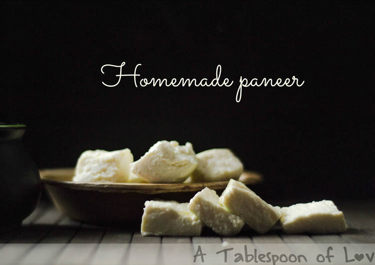Homemade Paneer/Indian Cottage Cheese
