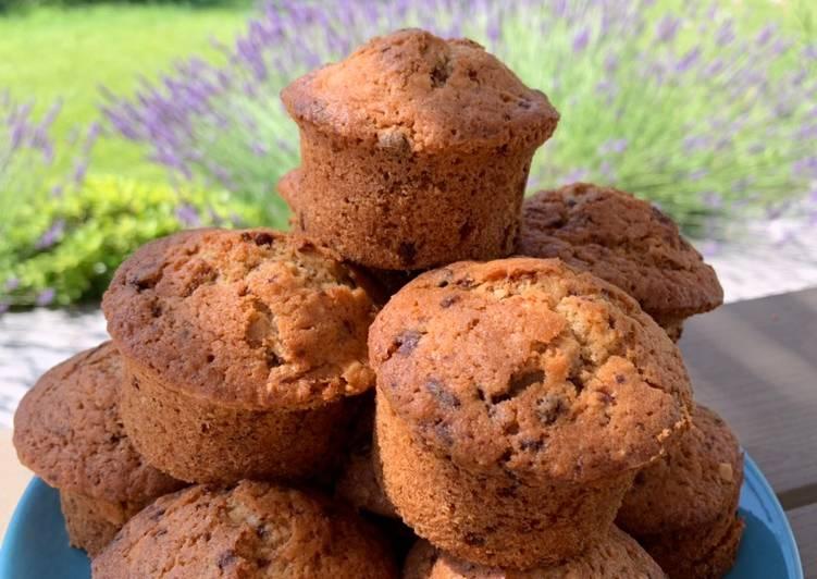 Muffins aux Pépites de Chocolat et Amandes