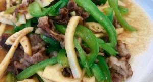 Green Pepper, Bamboo-shoot And Pork Stir-fry