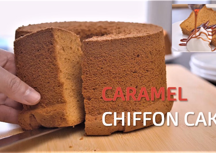 Caramel Chiffon Cake【Recipe Video】