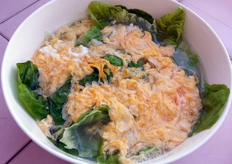 Egg Drop Salad Soup /DIET LUNCH