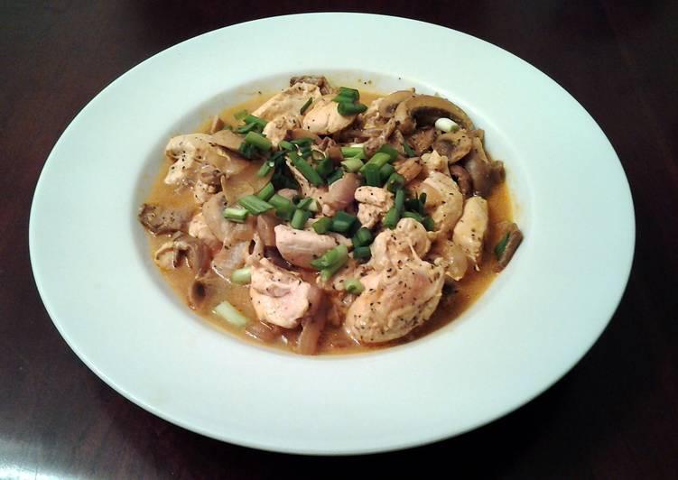 Chinese Chicken with Mushrooms my version of Moo Goo Gai Pan