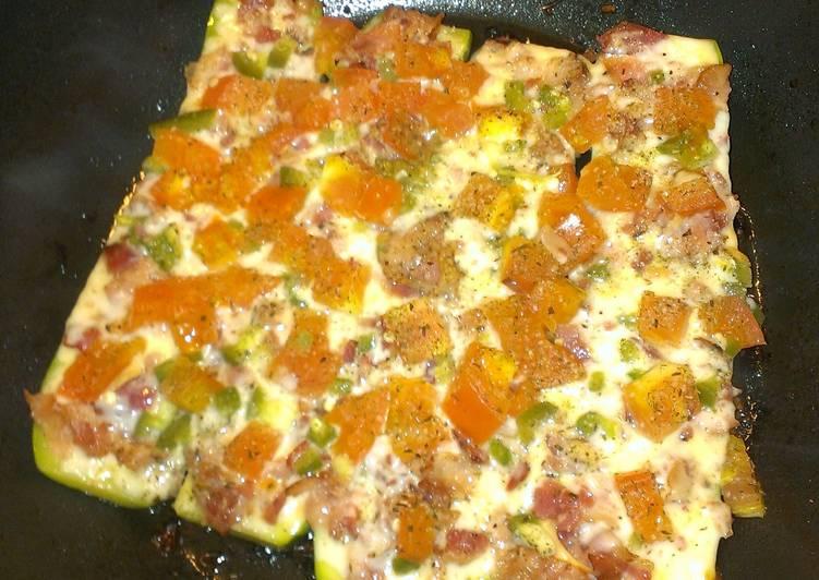Baked zucchini bruschetta