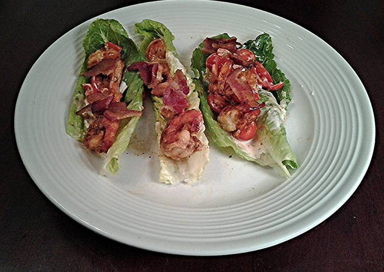 Shrimp BLT Lettuce Wraps