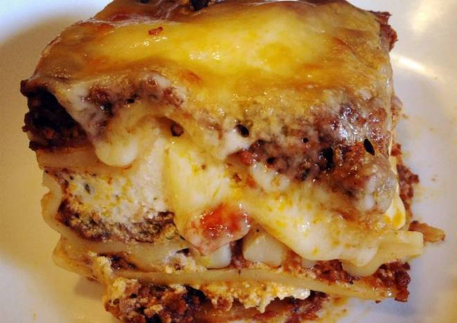 Lasagna With Homemade Bolognese Sauce