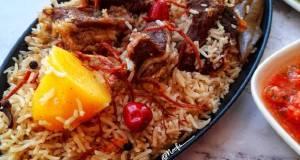 Traditional Omani Qabuli/Omani Pilau (versi daging)