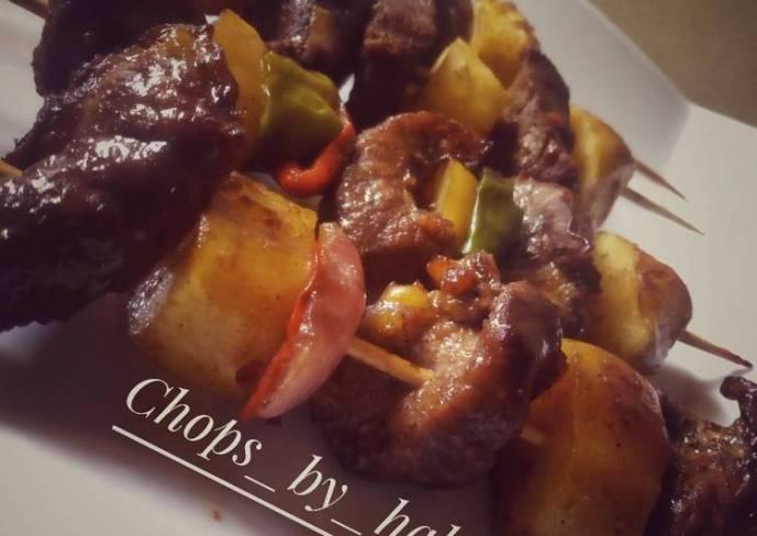 Potato beef kebab