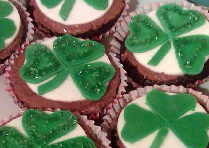Vickys St Patricks Day Guinness Cupcakes, GF DF EF SF NF