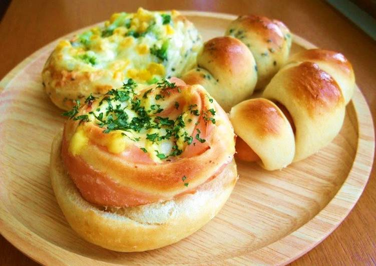 3 Different Kinds of Savory Rolls
