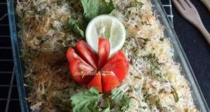 Baked Rice Cheese Casserole