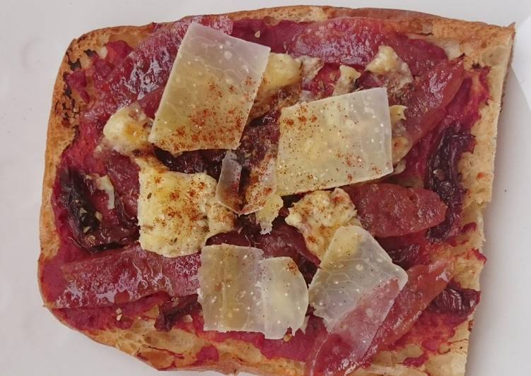 , Recipe: Delicious Chinese Sausage And Sun Dried Tomato Pizza Bread