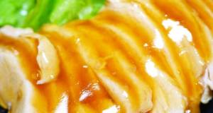 A Summertime Dish Light Simmered Chicken Breast Tenderized with Vinegar
