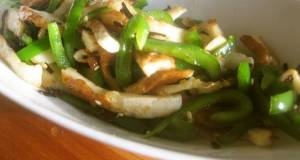 Green Peppers Chikuwa and Shio-Kombu Stir-Fry