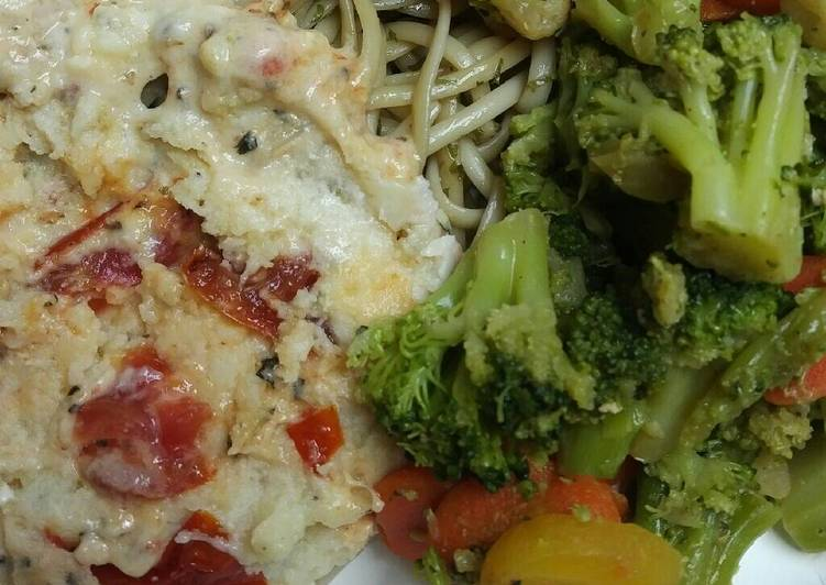 Creamy Chicken with Oven Roasted Tomatoes