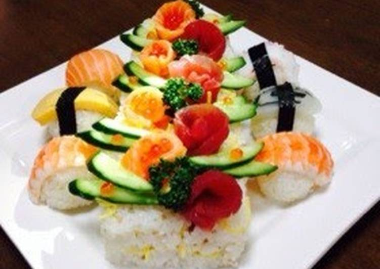 Easy Sushi Cake for Doll's Day