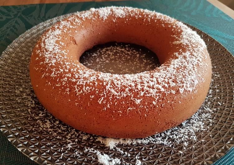 Gâteau chocolat et noix de coco