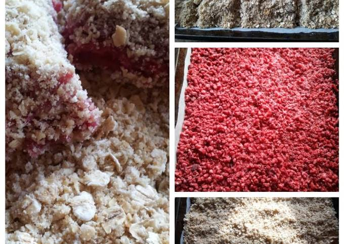 Raspberry oat crumblies