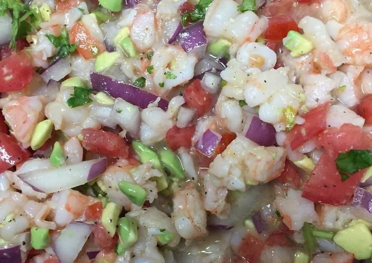 Zesty Lime Shrimp & Avocado Ceviche