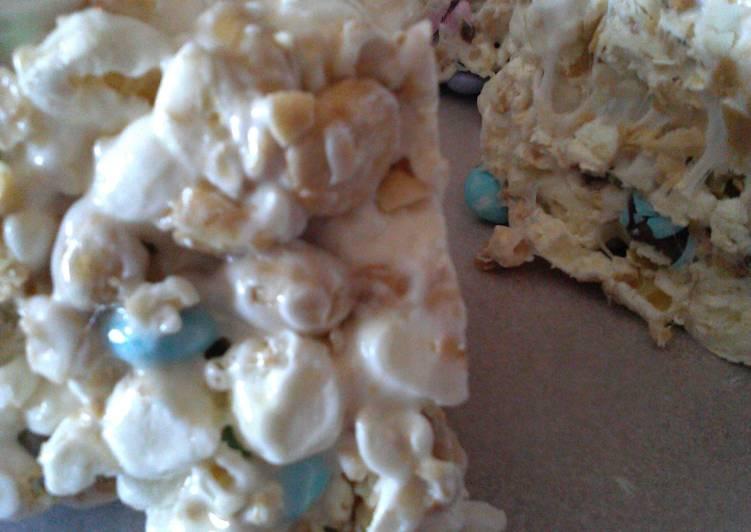M & M. - Popcorn Cake