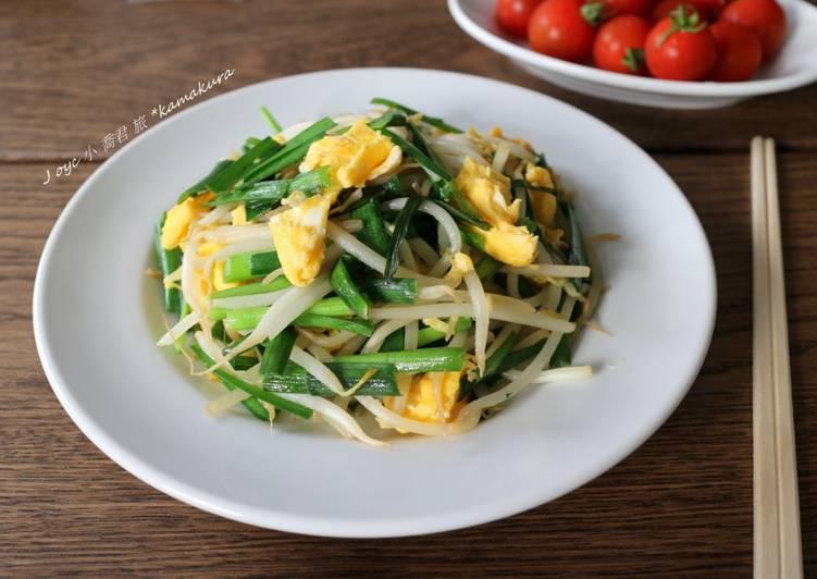 小喬君Joyc 發表的 韭菜豆芽炒嫩蛋(旅行料理) 食譜 - Cookpad