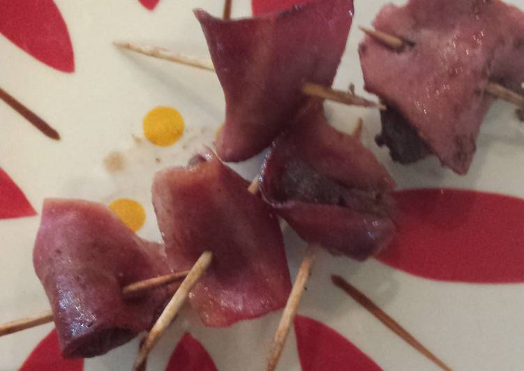 (Turkey) Bacon wrapped (Elk) steak