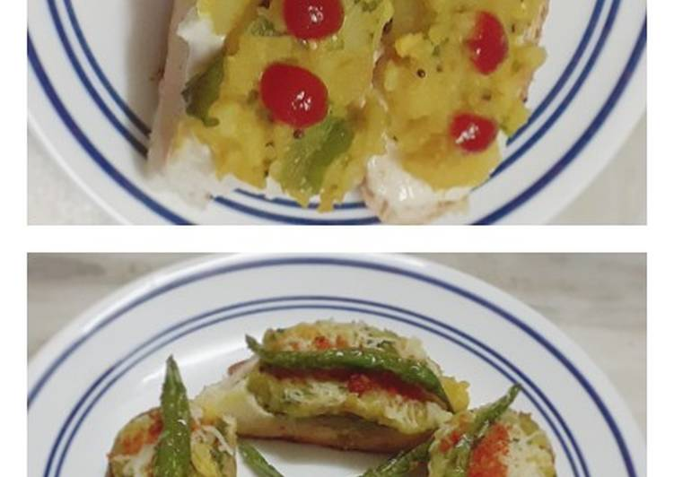 Vada Pav Bruschetta 2 ways