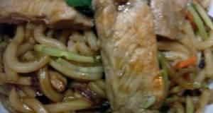 Pork And Ginger Udon Noodle Stir Fry