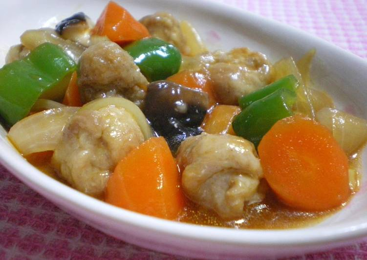 Light and Tender Meatball-Style Sweet and Sour Pork with Thinly Sliced Pork