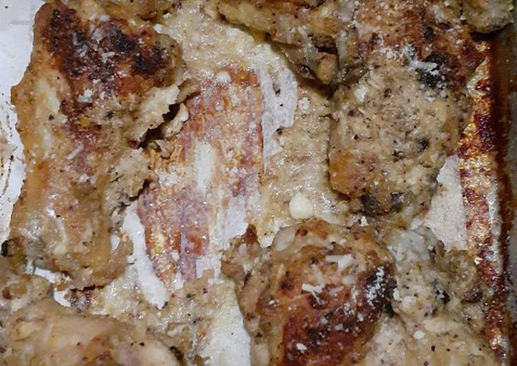 Garlic Parmesan Chicken Recipe Wings (Keto/Low Carb)