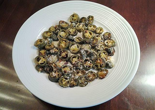 Roasted Parmesan Garlic Jalapeno Rounds