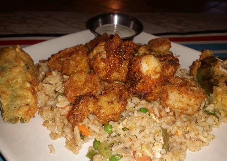 Lobster and Shrimp fried Rice #itsdishlycious