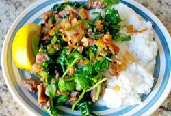Recipe Marinated Beef Vegetable Stir Fry & Rice Delicious