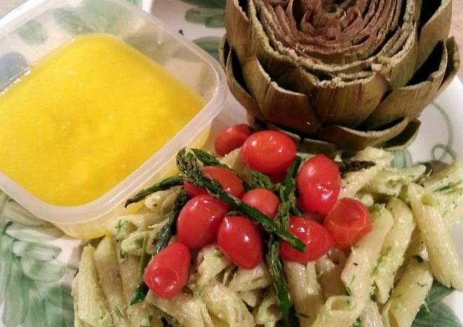 Penne and Asparagus Pesto