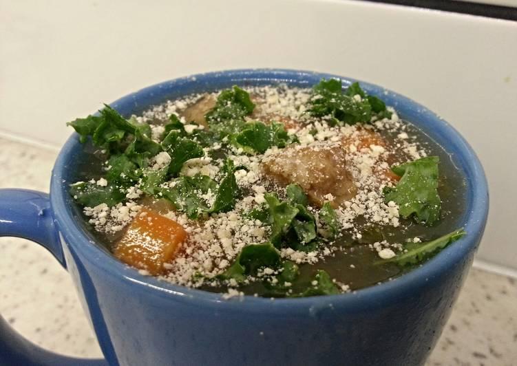 Italian wedding crockpot/slow cooker with kale and barley