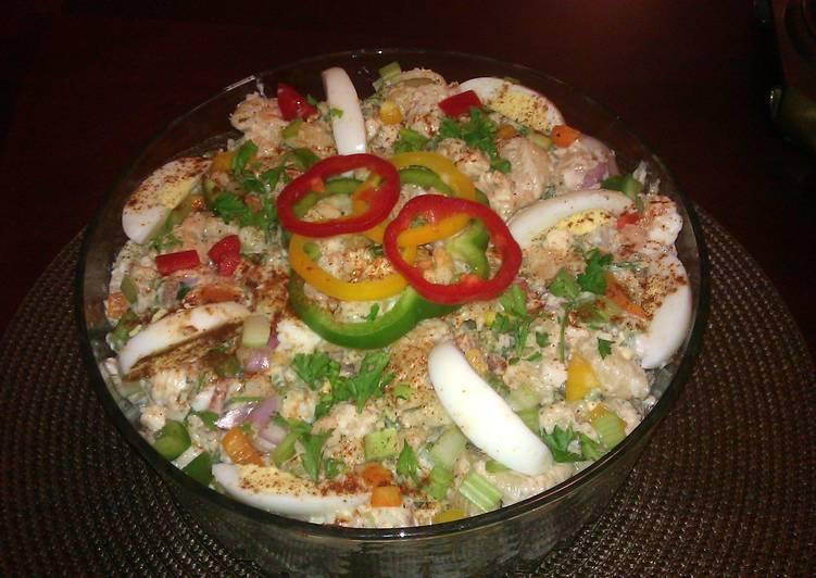 Recipe: Tasty Rick's Crabby Shrimp Macaroni Salad
