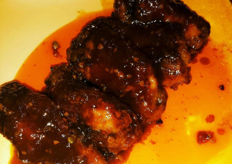 Sweet and Spicy Chicken Drumlets