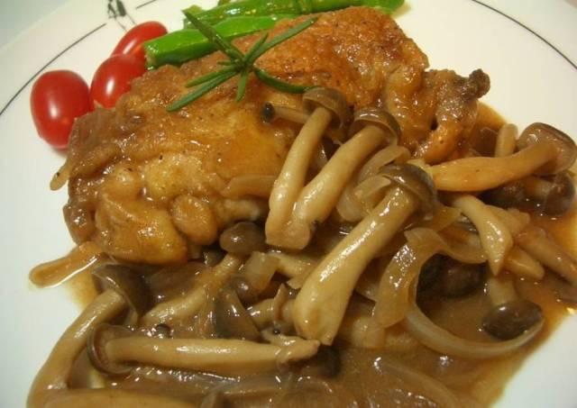Braised Chicken with Red Wine & Balsamic Vinegar