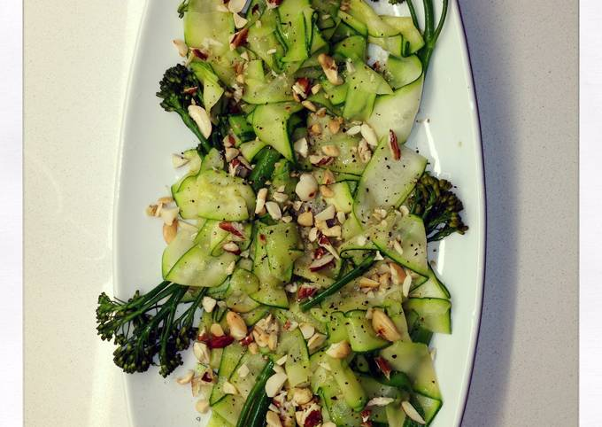 Courgette Ribbon And Baby Broccoli Salad