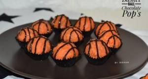 Basketball Chocolate Cake Pops