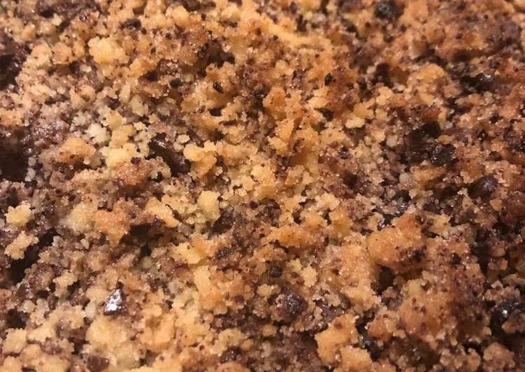 Crumble à la poire et chocolat