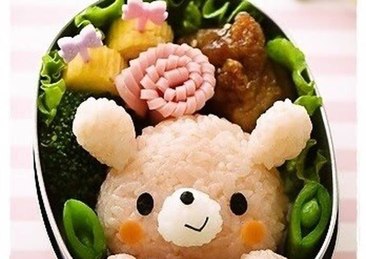 Bunny Character Bento For Valentine's Day