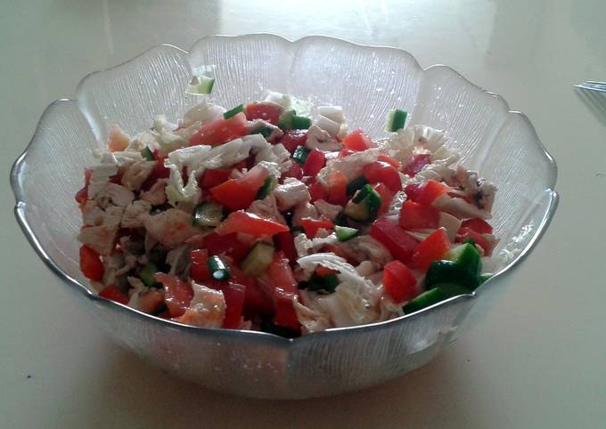 Tori's Diet Salad with Chicken Breast