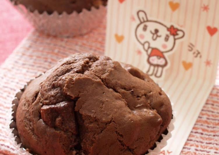 Easy Basic Chocolate Chunky Muffins