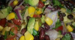 Black bean corn salad with hatch green chile