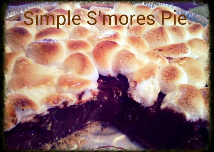 Simple Smores Pudding Pie