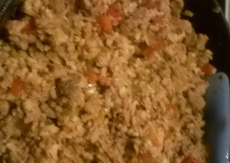 Turkey and brown rice taco filling